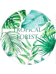 Popular Tropical Plants Round Beach Towel Forest Green Leaves