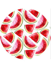 Fashion Fruits Printed Round Beach Towel Watermelon