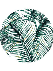 Popular Tropical Plants Round Beach Towel Green Leaves