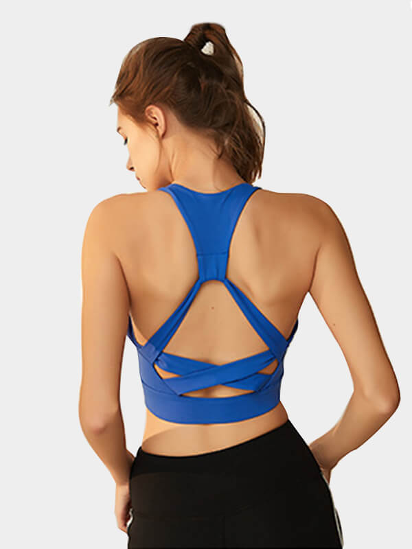 Cross-strap Decor Workout Sports Bra