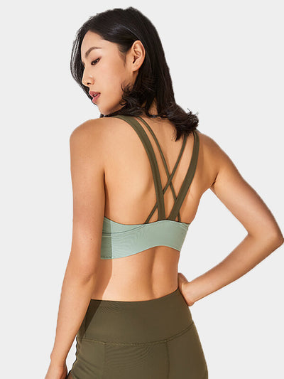 Gradual-color High Impact Support Workout Sports Bra
