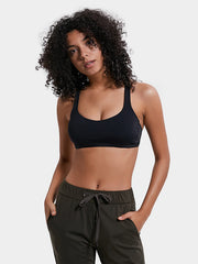 LikeBunny Gathering Cross Back Light Impact Sports Bra