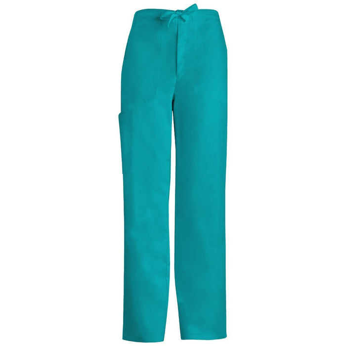 Cherokee Luxe 1022 Scrubs Pants Men's Fly Front Drawstring Teal Blue