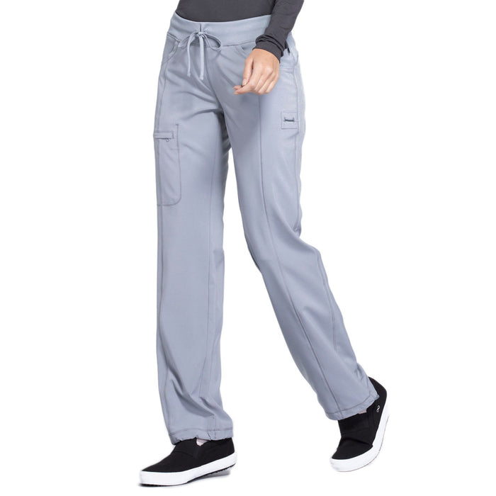 Cherokee Infinity 1123A Scrubs Pants Women's Low Rise Straight Leg Drawstring Grey