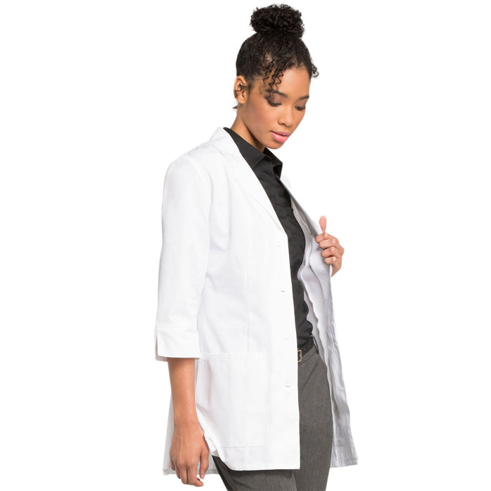 "Cherokee Workwear Professionals 1470A Lab Coat Women's 30"" 3/4 Sleeve White 5XL"