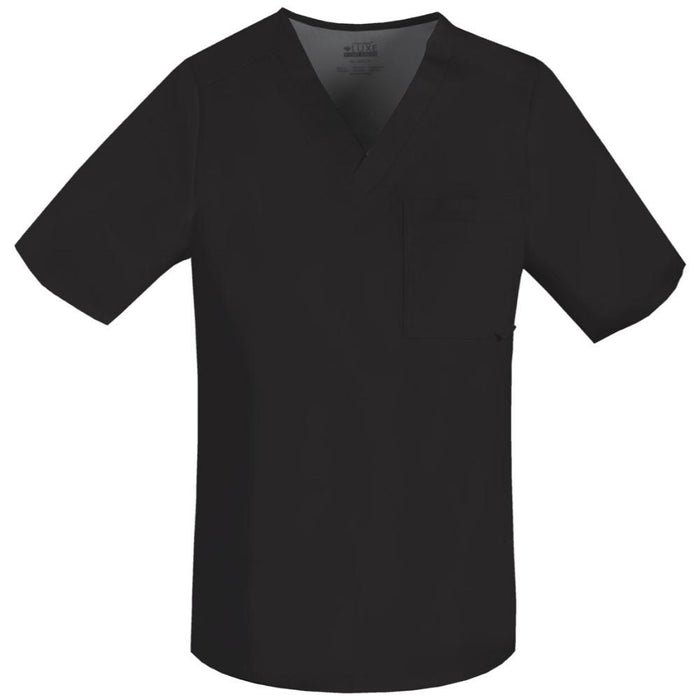 Cherokee Luxe 1929 Scrubs Top Men's V-Neck Black