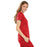 Cherokee Luxe 21701 Scrubs Top Women's Empire Waist Mock Wrap Red 3XL