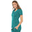 Cherokee Luxe 21701 Scrubs Top Women's Empire Waist Mock Wrap Teal Blue L
