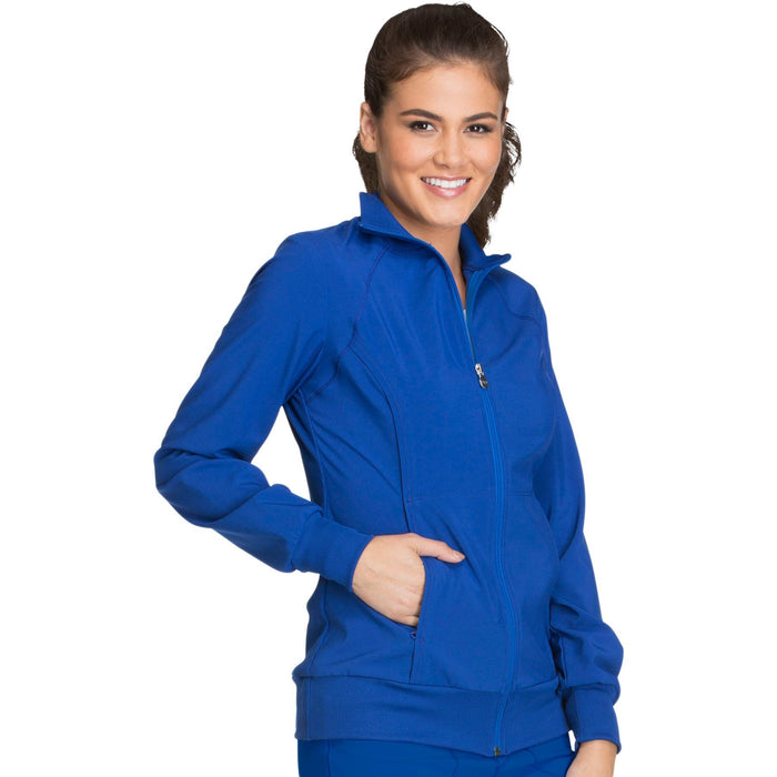 Cherokee Infinity 2391A Scrubs Jacket Women's Zip Front Warm-Up Galaxy Blue 3XL