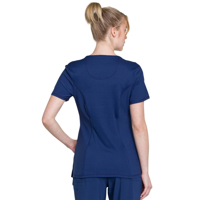 Cherokee Infinity 2624A Scrubs Top Women's Round Neck Navy 3XL