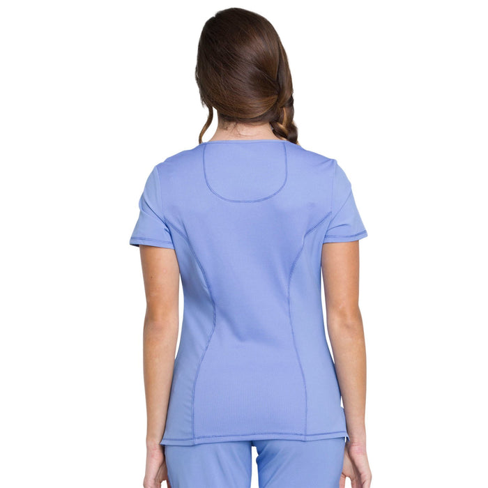 Cherokee Infinity 2625A Scrubs Top Women's Mock Wrap Ciel Blue 3XL