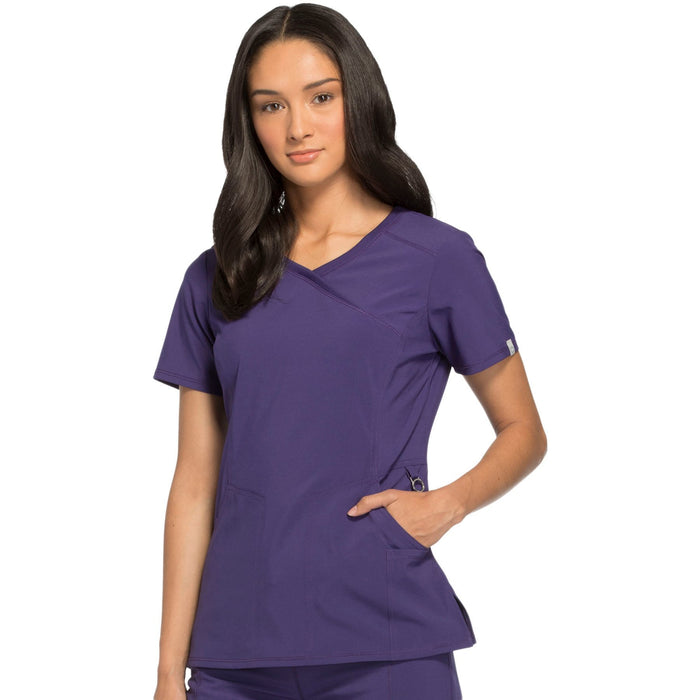 Cherokee Infinity 2625A Scrubs Top Women's Mock Wrap Grape 3XL