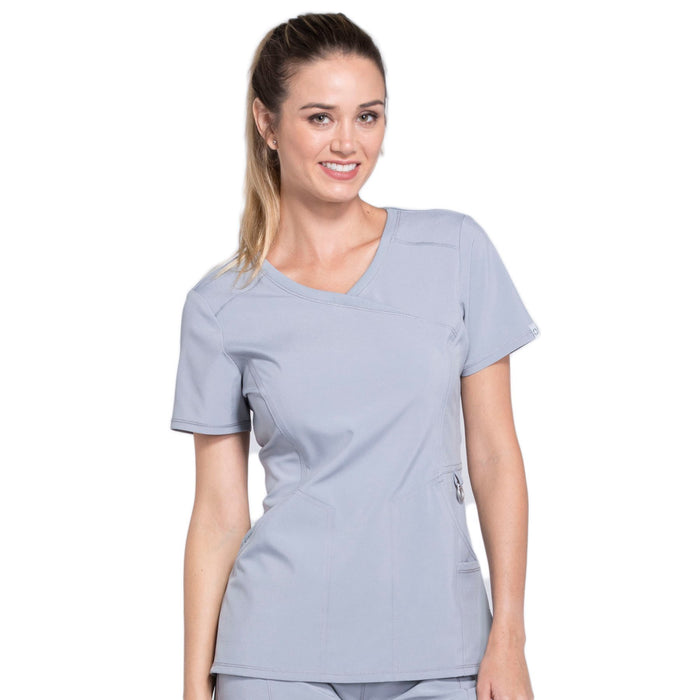 Cherokee Infinity 2625A Scrubs Top Women's Mock Wrap Grey