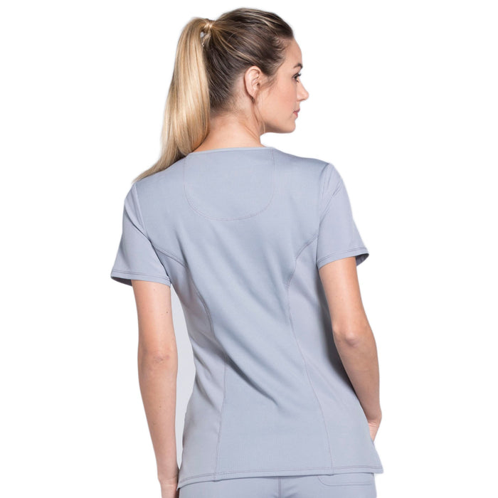 Cherokee Infinity 2625A Scrubs Top Women's Mock Wrap Grey 3XL