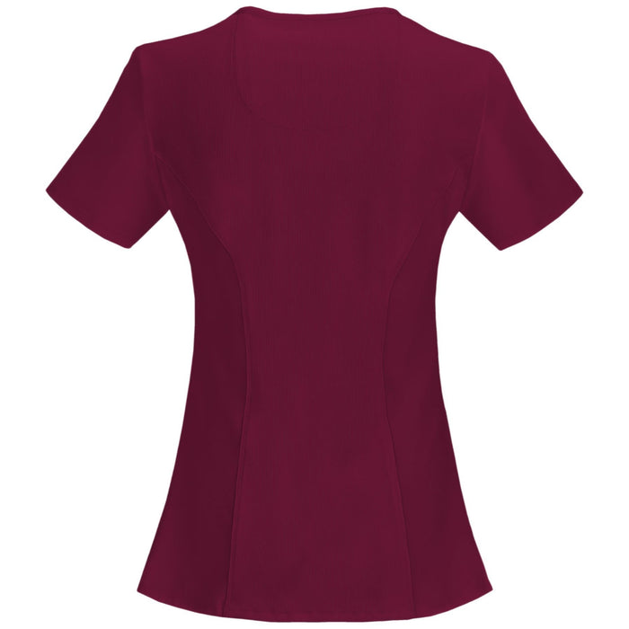 Cherokee Infinity 2625A Scrubs Top Women's Mock Wrap Wine 2XL