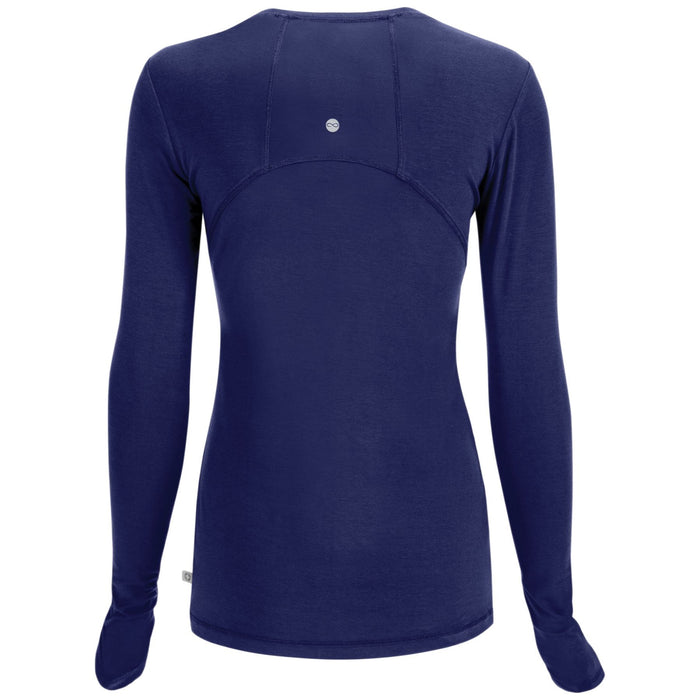 Cherokee Infinity 2626A Underscrubs Women's Long Sleeve Knit Tee Navy