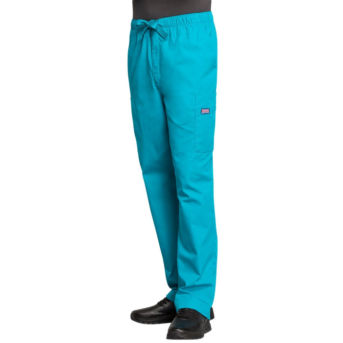 Cherokee Workwear 4000 Scrubs Pants Men's Drawstring Cargo Teal Blue 4XL