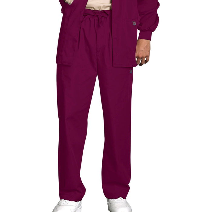 Cherokee Workwear 4000 Scrubs Pants Men's Drawstring Cargo Wine