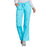 Cherokee Workwear 4020 Scrubs Pants Women's Low Rise Drawstring Cargo Turquoise