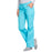 Cherokee Workwear 4020 Scrubs Pants Women's Low Rise Drawstring Cargo Turquoise L