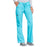 Cherokee Workwear 4020 Scrubs Pants Women's Low Rise Drawstring Cargo Turquoise M