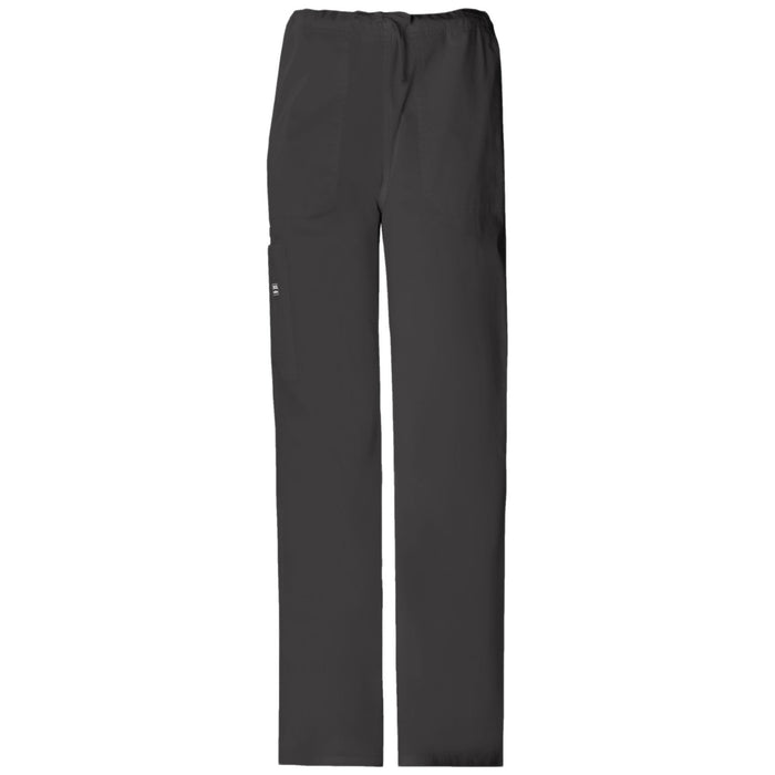Cherokee Workwear Core Stretch 4043 Scrubs Pants Unisex Drawstring Cargo Black