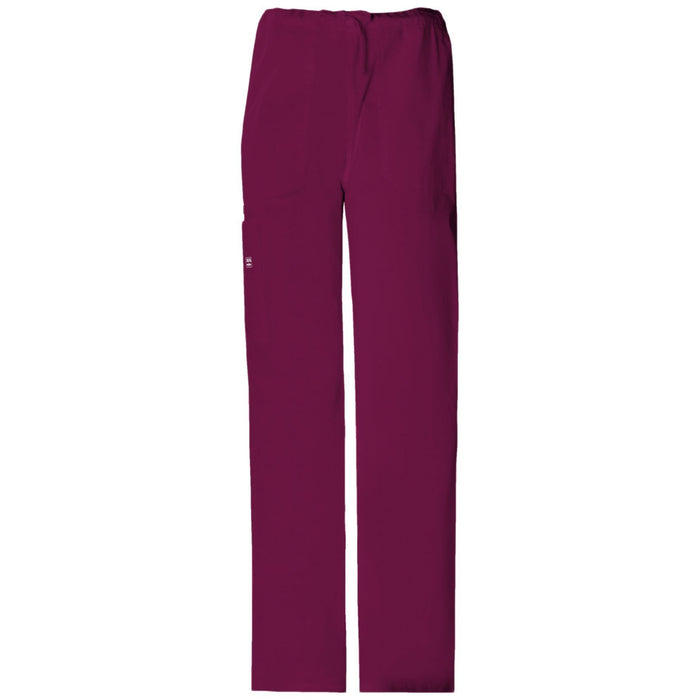 Cherokee Workwear Core Stretch 4043 Scrubs Pants Unisex Drawstring Cargo Wine