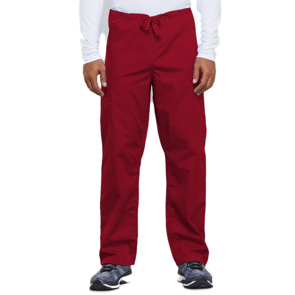 Cherokee Workwear 4100 Scrubs Pants Unisex Drawstring Cargo Red