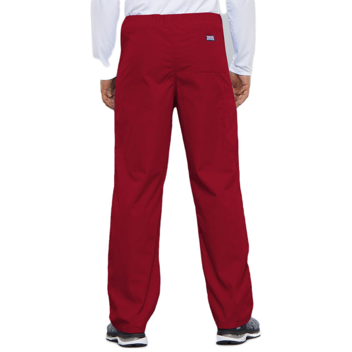 Cherokee Workwear 4100 Scrubs Pants Unisex Drawstring Cargo Red 3XL