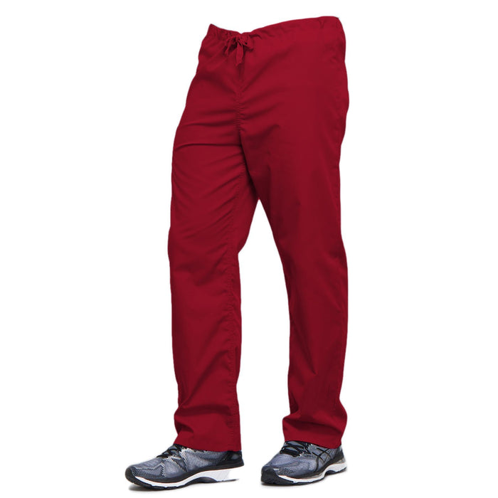 Cherokee Workwear 4100 Scrubs Pants Unisex Drawstring Cargo Red 4XL