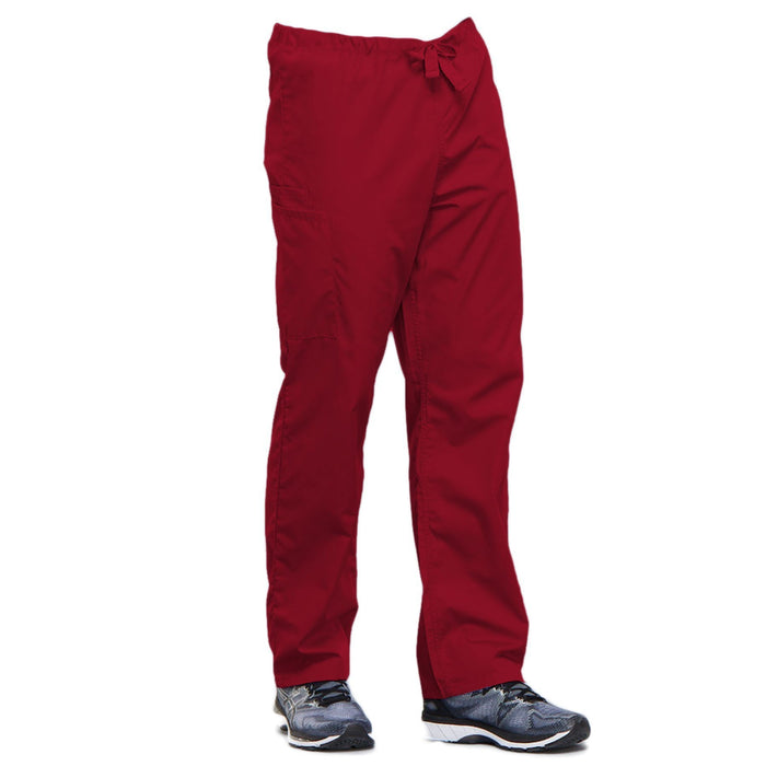 Cherokee Workwear 4100 Scrubs Pants Unisex Drawstring Cargo Red 5XL