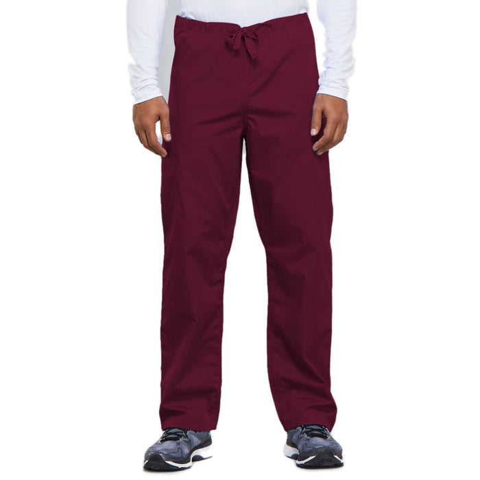 Cherokee Workwear 4100 Scrubs Pants Unisex Drawstring Cargo Wine
