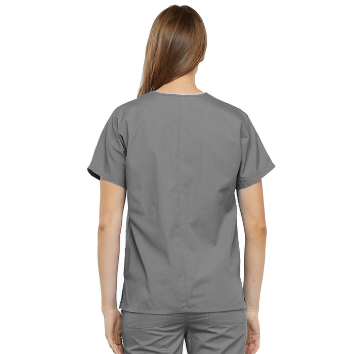 Cherokee Workwear 4700 Scrubs Top Women's V-Neck Grey 3XL