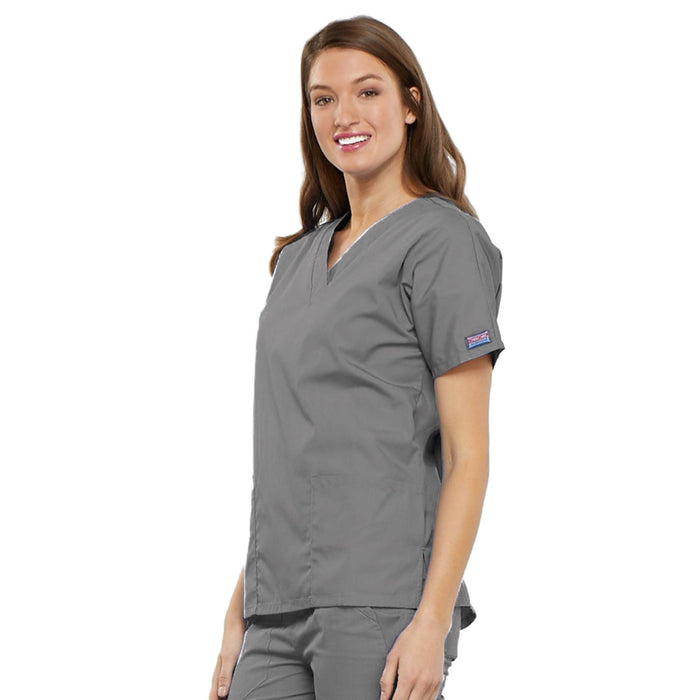 Cherokee Workwear 4700 Scrubs Top Women's V-Neck Grey 4XL