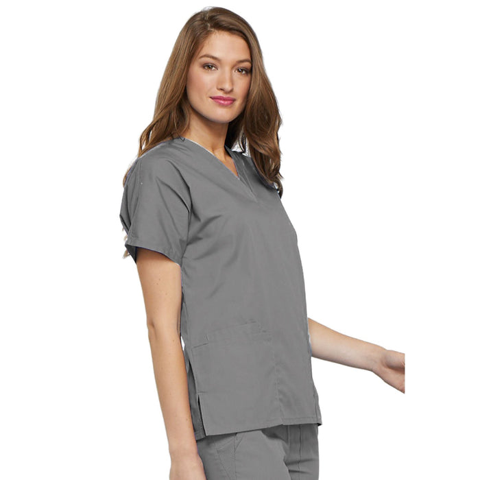 Cherokee Workwear 4700 Scrubs Top Women's V-Neck Grey 5XL
