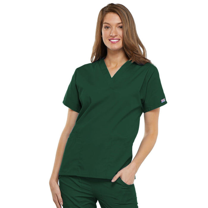 Cherokee Workwear 4700 Scrubs Top Women's V-Neck Hunter Green