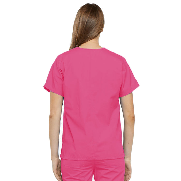 Cherokee Workwear 4700 Scrubs Top Women's V-Neck Shocking Pink 3XL
