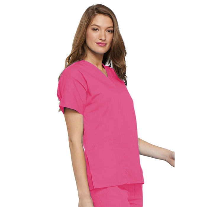 Cherokee Workwear 4700 Scrubs Top Women's V-Neck Shocking Pink 5XL
