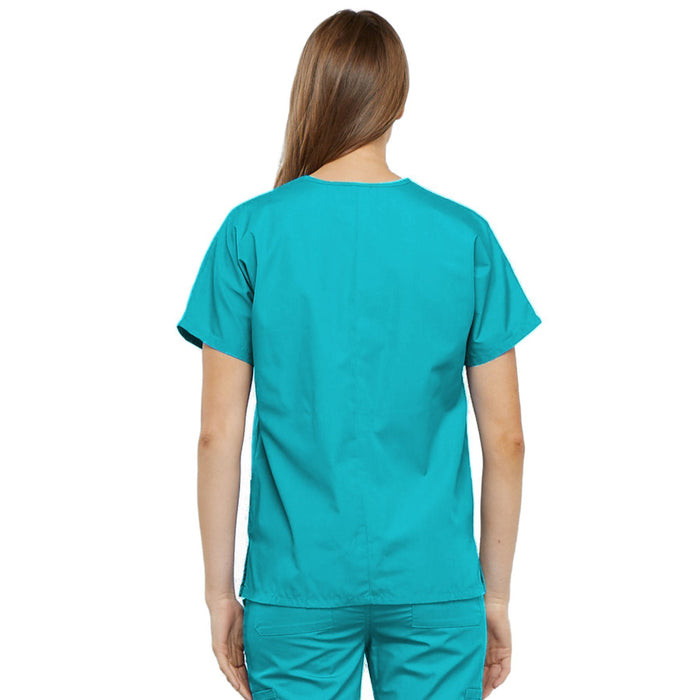 Cherokee Workwear 4700 Scrubs Top Women's V-Neck Turquoise 3XL