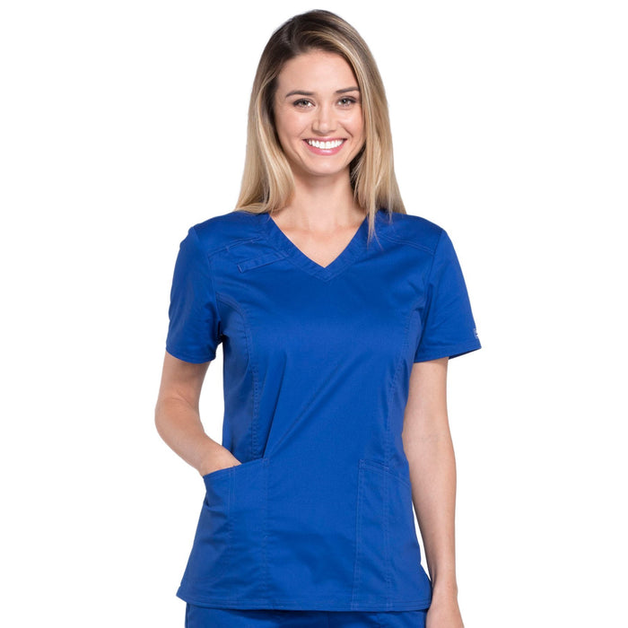 Cherokee Core Stretch 4710 Scrubs Top Women's V-Neck Galaxy Blue