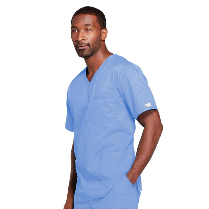 Cherokee Core Stretch 4725 Scrubs Top Unisex V-Neck Ciel Blue 4XL