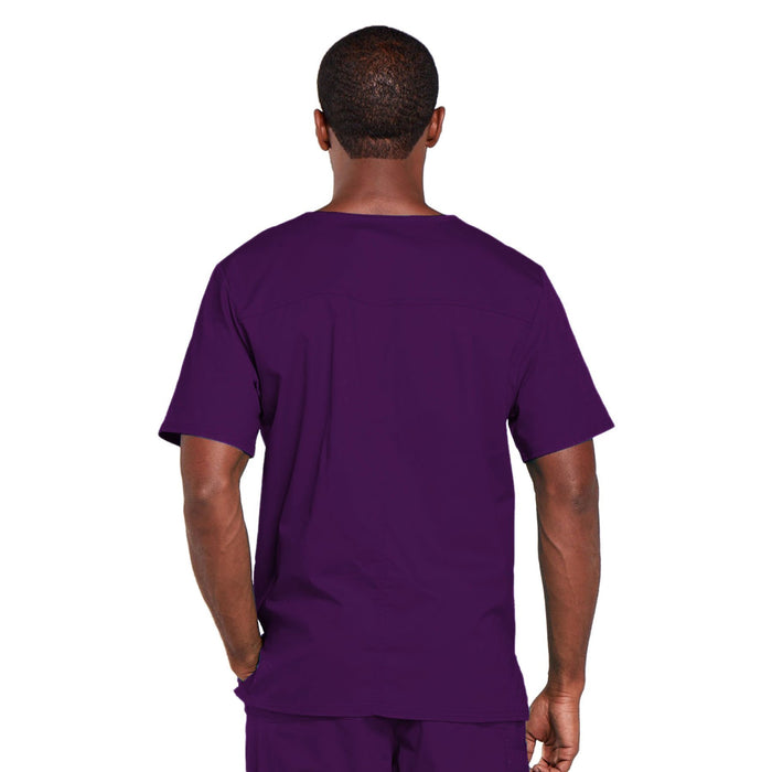 Cherokee Core Stretch 4725 Scrubs Top Unisex V-Neck Eggplant 3XL