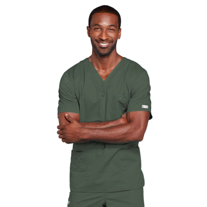 Cherokee Core Stretch 4725 Scrubs Top Unisex V-Neck Olive
