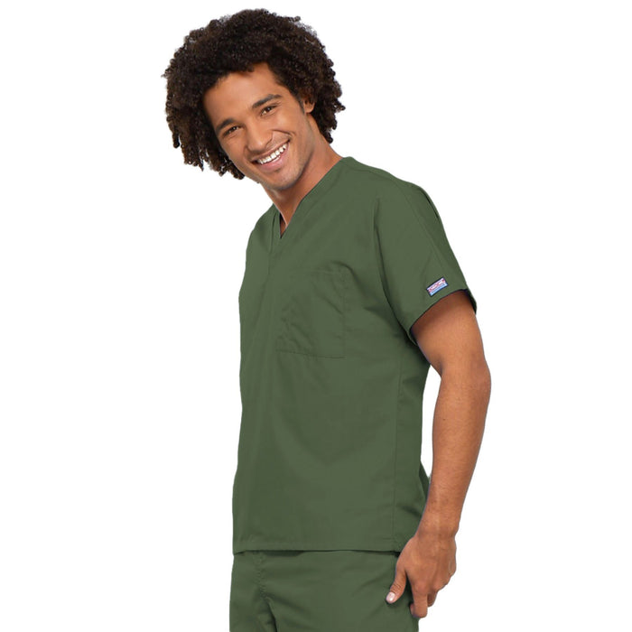 Cherokee Workwear 4777 Scrubs Top Unisex V-Neck Tunic. Olive 3XL