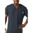 Cherokee Workwear 4789 Scrubs Top Men's V-Neck Pewter