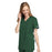 Cherokee Workwear 4801 Scrubs Top Women's Mock Wrap Tunic Hunter Green 3XL