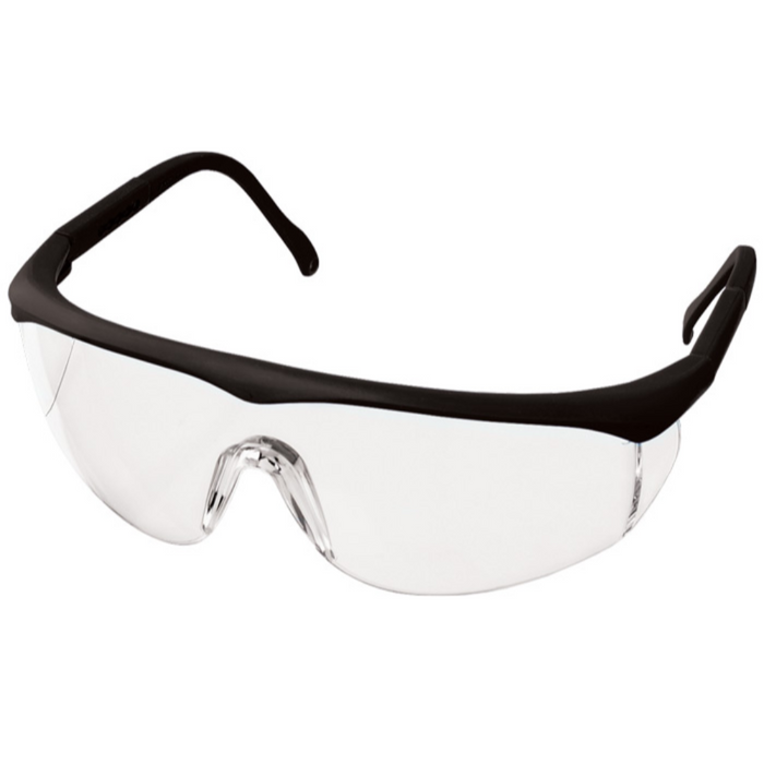 Prestige Colored Full Frame Safety Glasses Black
