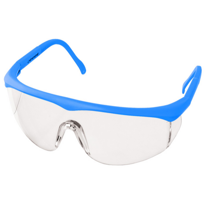 Prestige Colored Full Frame Safety Glasses Neon Blue