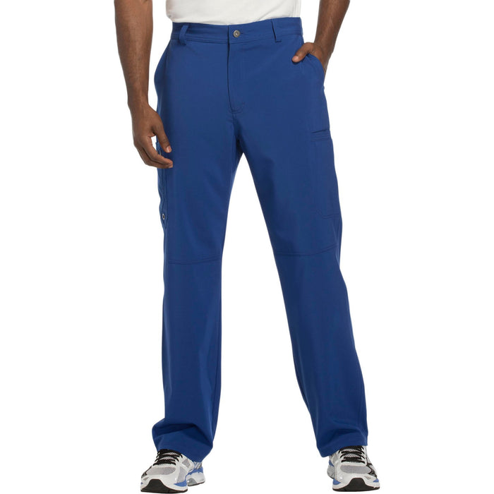 Cherokee Infinity CK200A Scrubs Pants Men's Fly Front Galaxy Blue