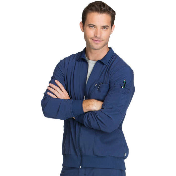 Cherokee Infinity CK305A Scrubs Jacket Men's Zip Front Navy 4XL